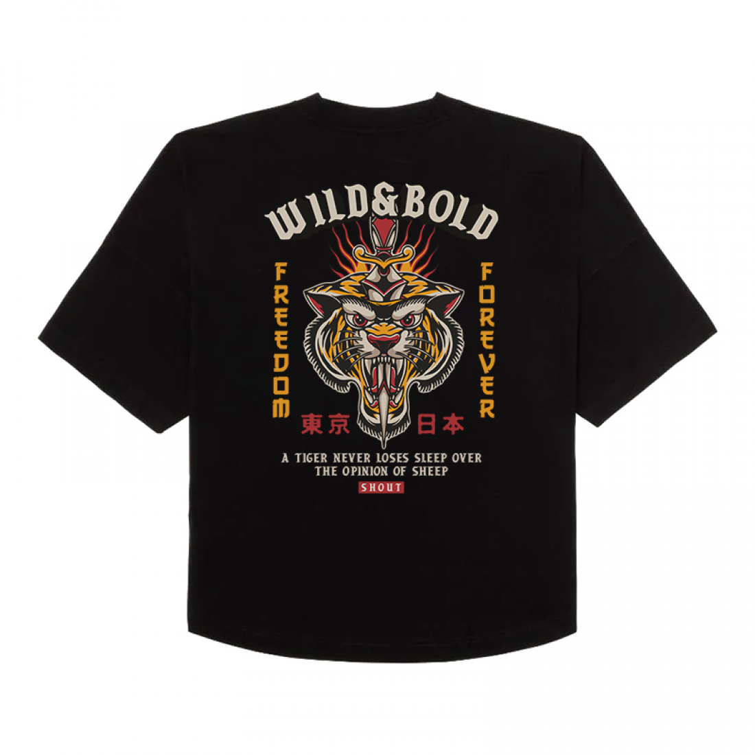 Shout Oversize Wild And Bold Oldschool Unisex T-Shirt