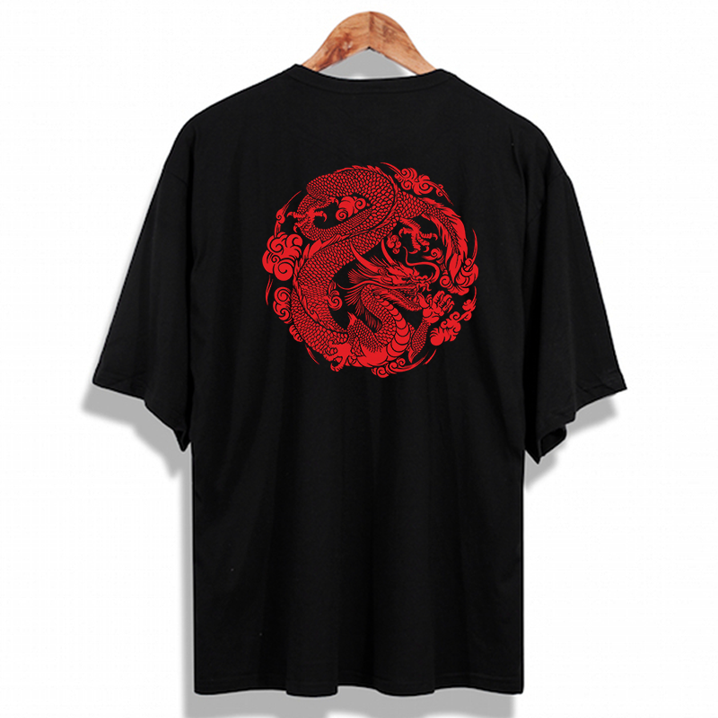 Oversize Chinese Dragon Oldschool Unisex T-Shirt