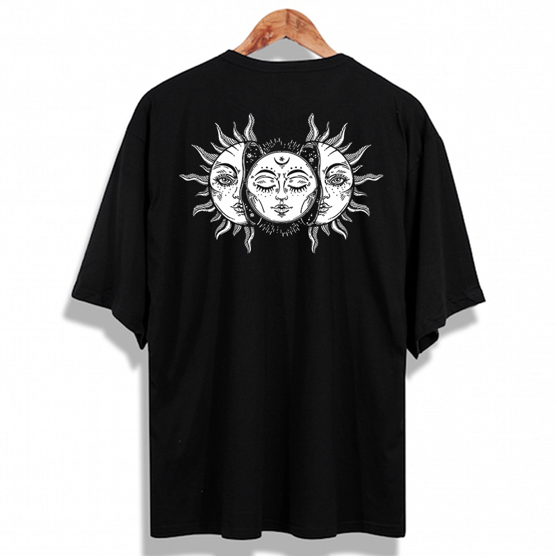 Oversize Sun and Moon Vintage Unisex T-Shirt